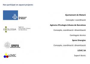 Captura del document de l'empresa BCNEcologia de la memòria del treball realitzat a Mataró, junt amb Lovic i Spora Sinergies