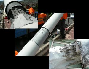 Detall de tirants inspeccionats però amb la mescla de ciment en estat correcte i els cordons sense òxid, per poder comparar amb els danyats