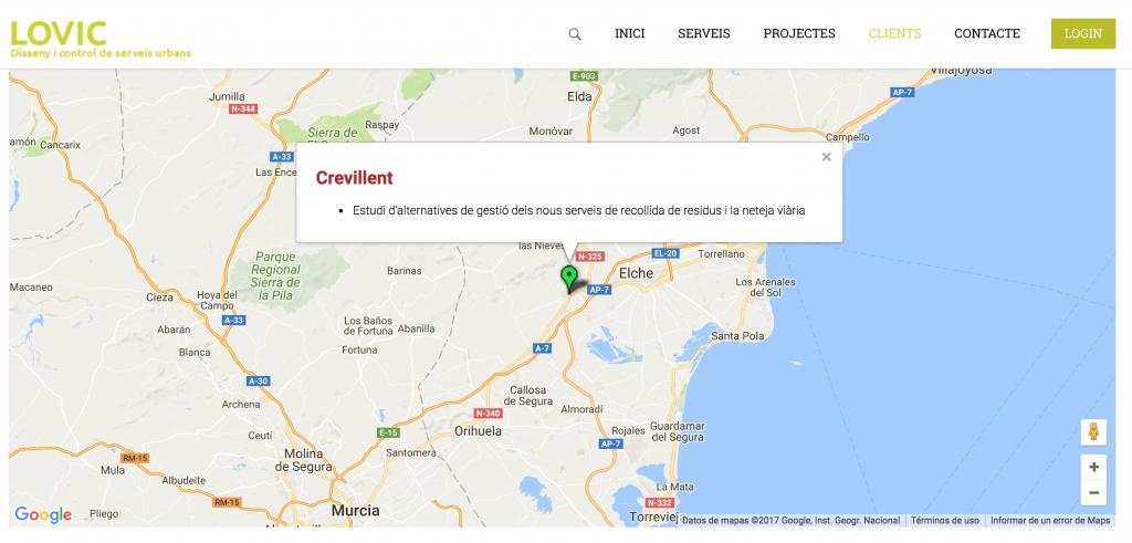 Captura de la web de l'empresa LOVIC després d'indicar-los que no era cert el que anunciaven.