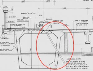 Detall constructiu dels desaigües