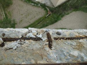 Tram on ha desaparegut el recobriment de formigó.